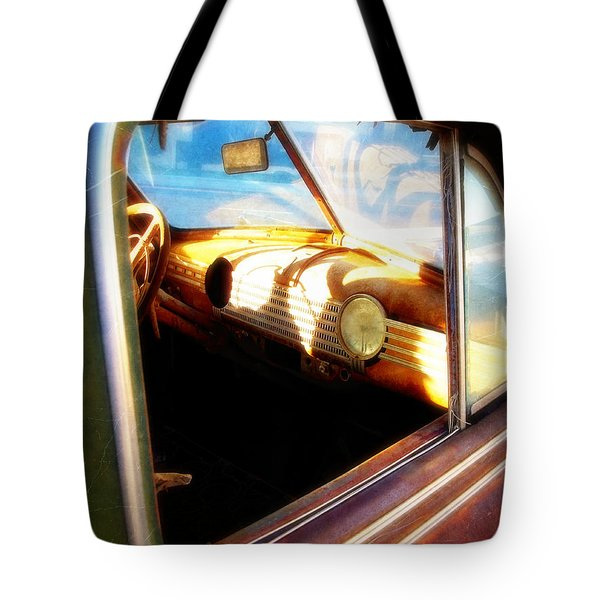 Tote Bag featuring the photograph Old Chevrolet Dashboard by Glenn McCarthy Art and Photography