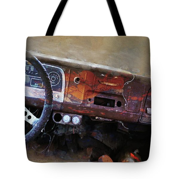 Tote Bag featuring the digital art Old Chevy 2016 by Kathryn Strick