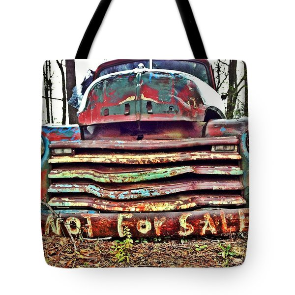 Old Chevy Truck With Graffiti Tote Bag