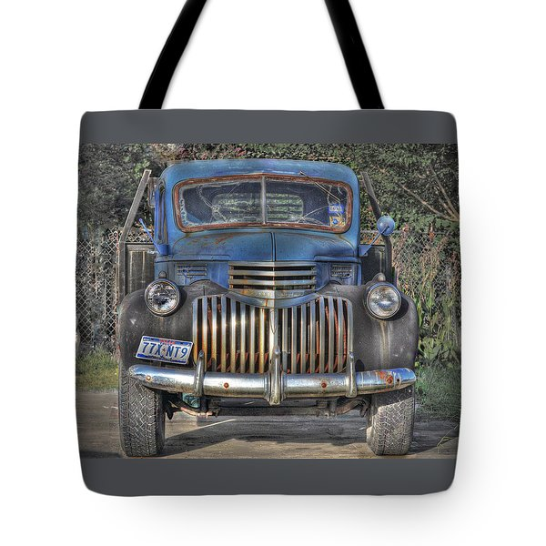 Tote Bag featuring the photograph Old Chevy Truck by Savannah Gibbs