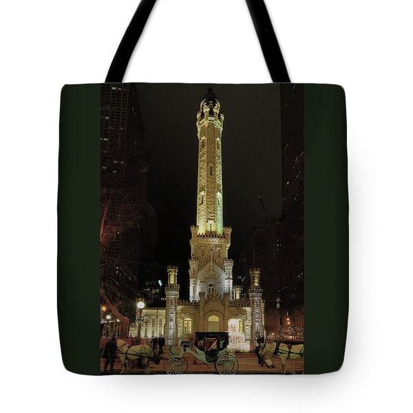 Old Chicago Water Tower Tote Bag