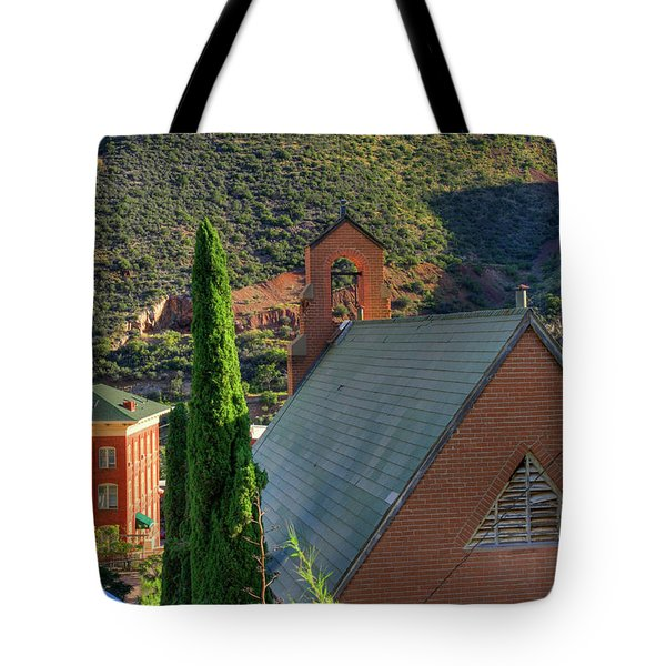 Old Church In Bisbee Tote Bag