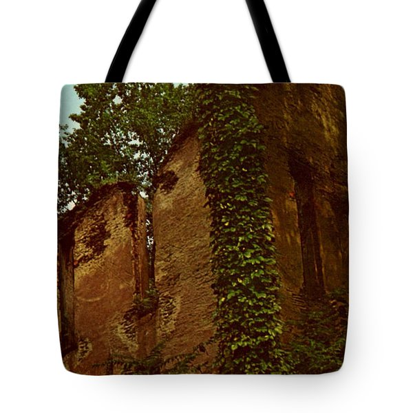 Old Church Ruins  Tote Bag by Ruth  Housley
