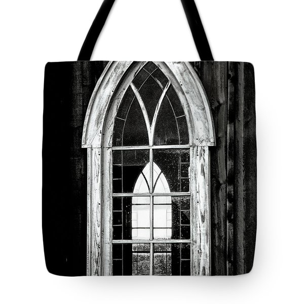 Tote Bag featuring the photograph Old Church Window by Brad Allen Fine Art