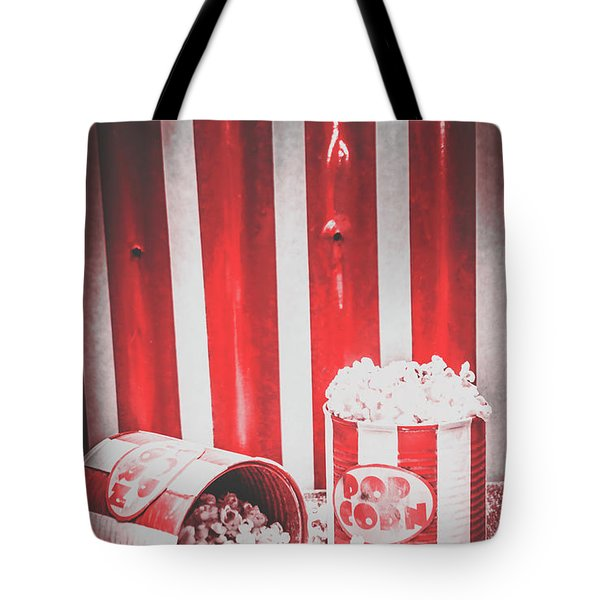 Old Cinema Pop Corn Tote Bag