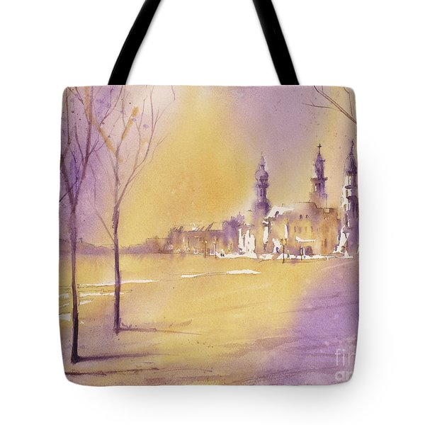 Old City At Dusk Tote Bag
