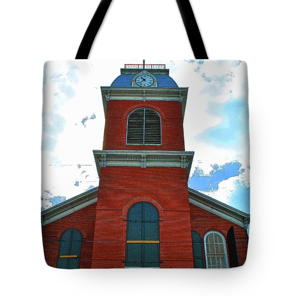 Tote Bag featuring the photograph Old City Hall Key West by Jost Houk