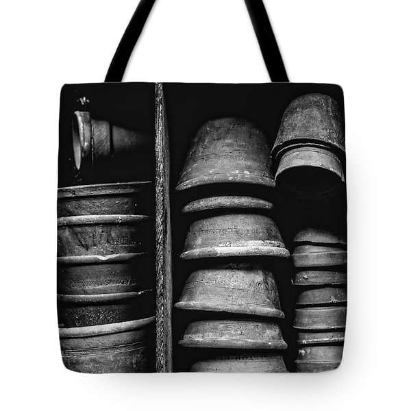 Tote Bag featuring the photograph Old Clay Pots by Edward Fielding