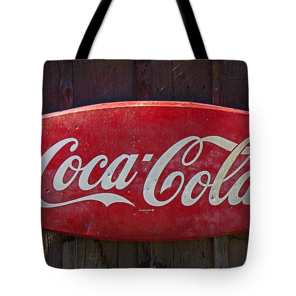 Old Coca-cola Sign On Barn Tote Bag by Garry Gay