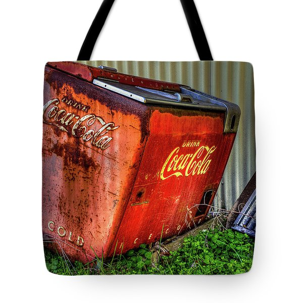 Tote Bag featuring the photograph Old Coke Box by Jerry Gammon