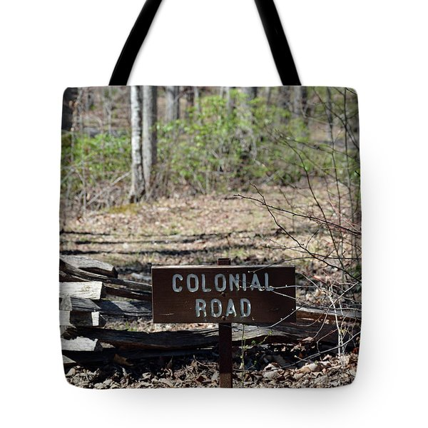 Old Colonial Road Tote Bag by Bruce Gourley
