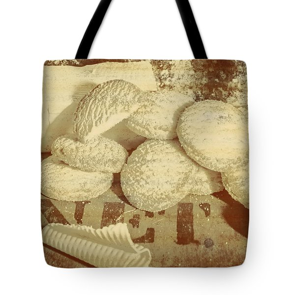 Old Cookie Tin Sign Art Tote Bag