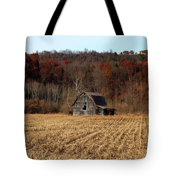Old Country Barn In Autumn #1 Tote Bag by Jeff Severson