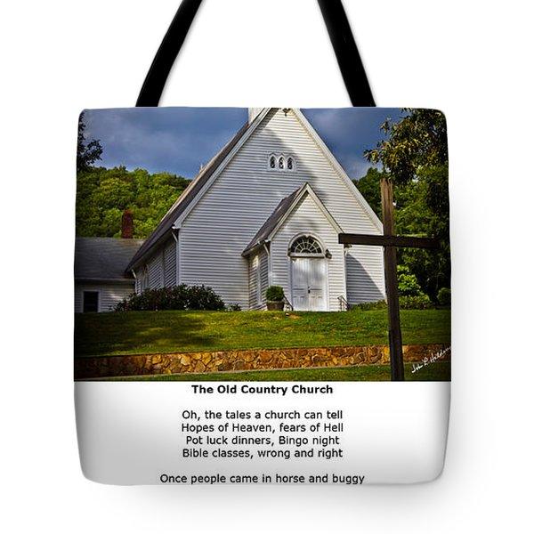 Old Country Church Tote Bag by John Haldane