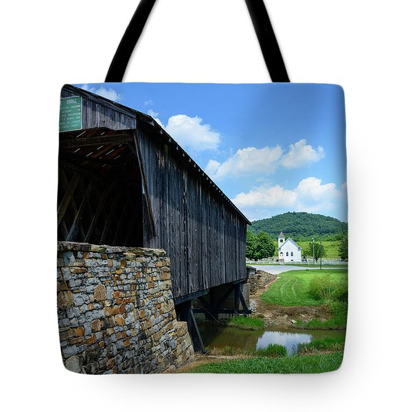 Old Country Road Tote Bag