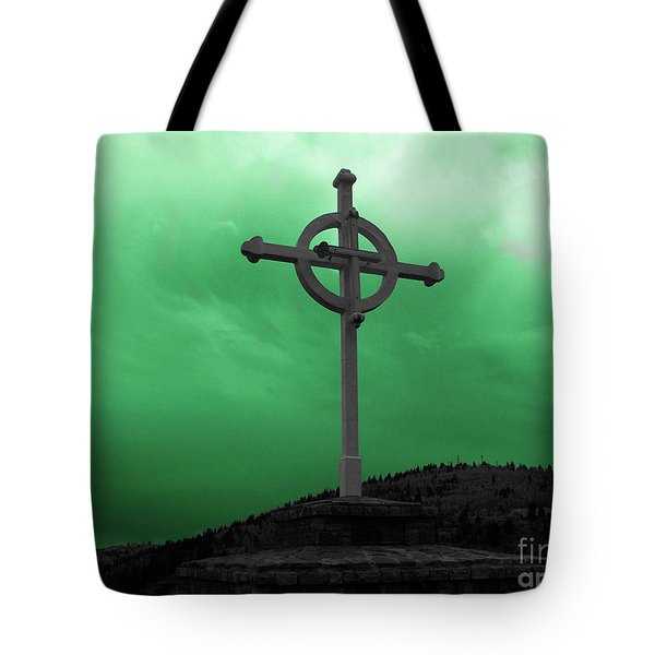 Old Cross - Green Sky Tote Bag
