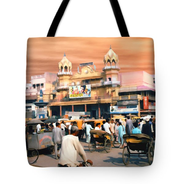 Old Dehli Tote Bag by Kurt Van Wagner