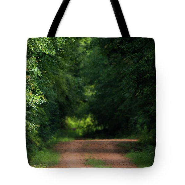 Tote Bag featuring the photograph Old Dirt Road by Shelby Young