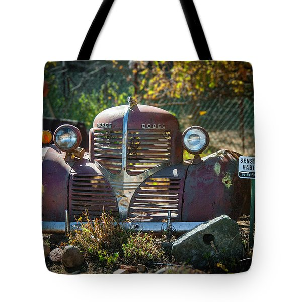 Old Dodge Rust Bucket Tote Bag
