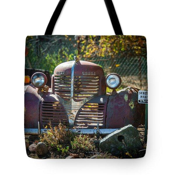 Old Dodge Rust Bucket Tote Bag