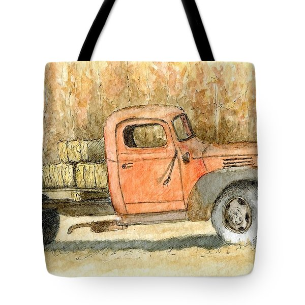 Old Dodge Truck In Autumn Tote Bag