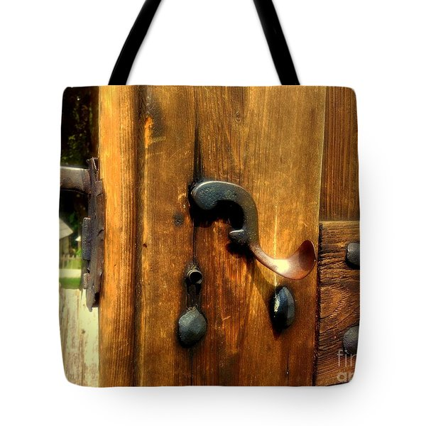 Old Door Handle Tote Bag