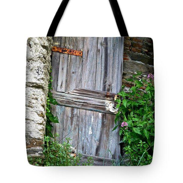 Old Door In Vernazza Tote Bag