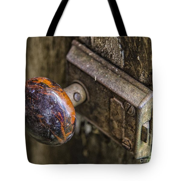 Tote Bag featuring the photograph Old Door Knob by JRP Photography
