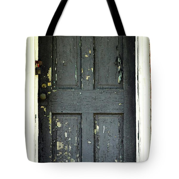 Old Door Tote Bag by Zawhaus Photography