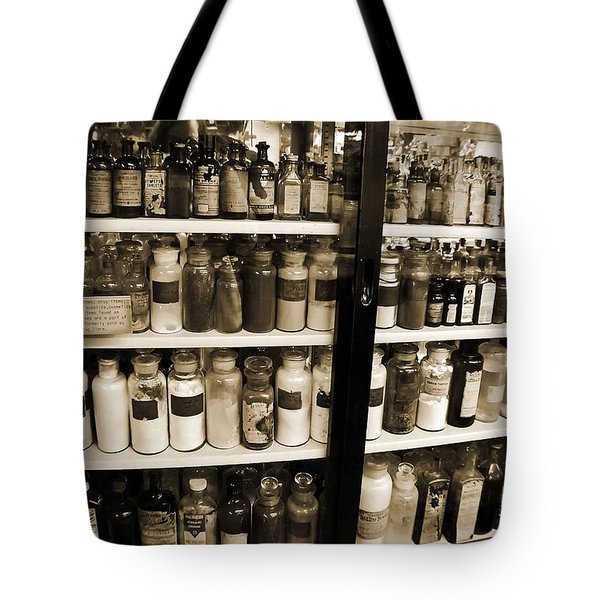 Old Drug Store Goods Tote Bag by DigiArt Diaries by Vicky B Fuller
