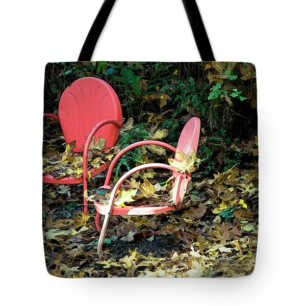 Old Empty Chairs Tote Bag by Gwyn Newcombe