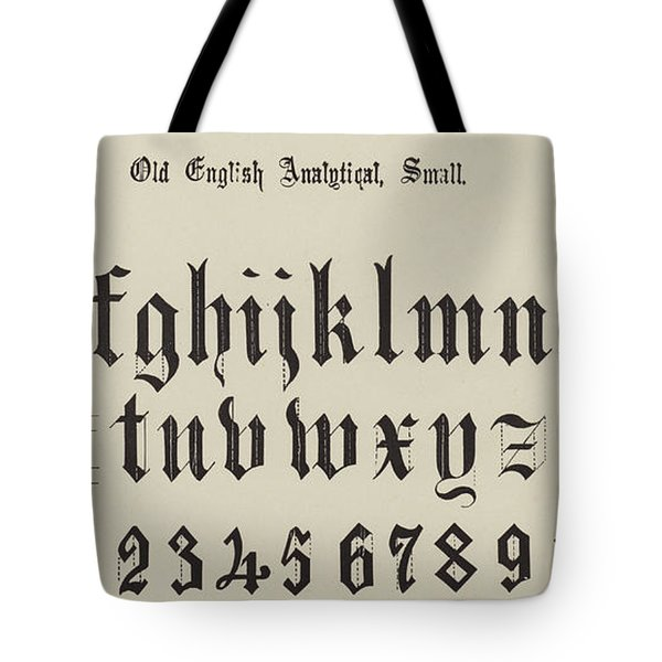 Old English Analytical, Small Tote Bag