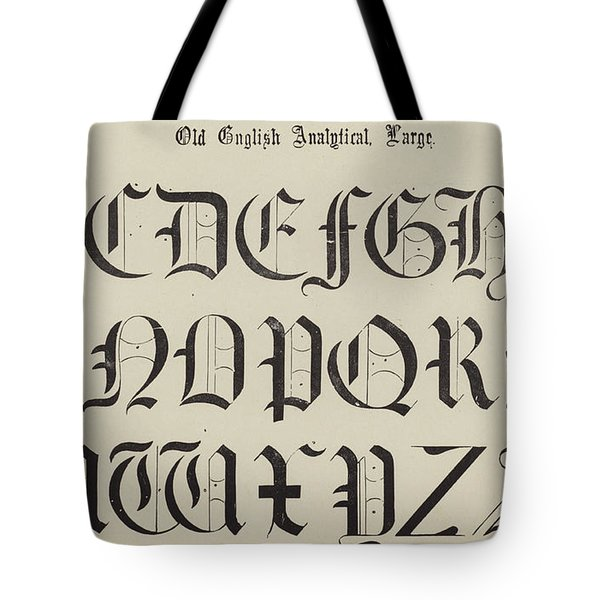 Old English Font Tote Bag