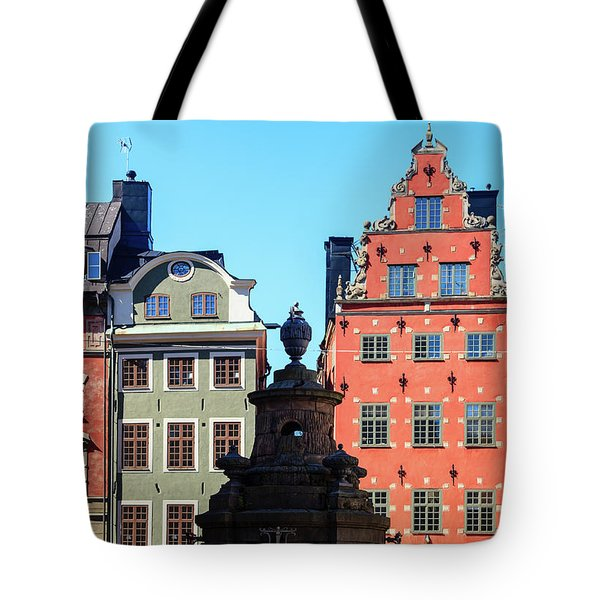 Old European Architecture Tote Bag by Teemu Tretjakov