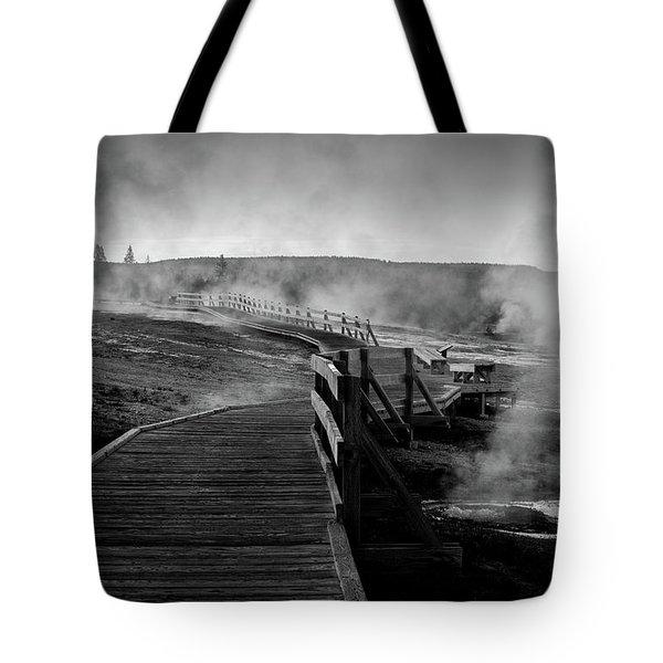 Old Faithful Boardwalk Tote Bag