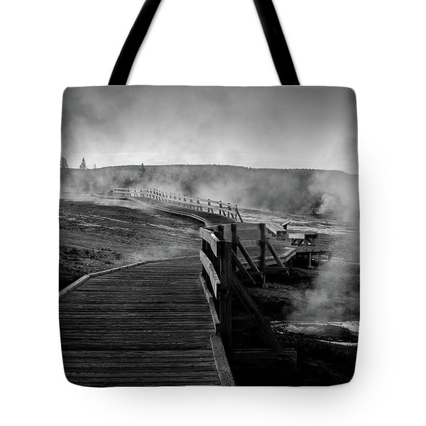 Old Faithful Boardwalk Tote Bag