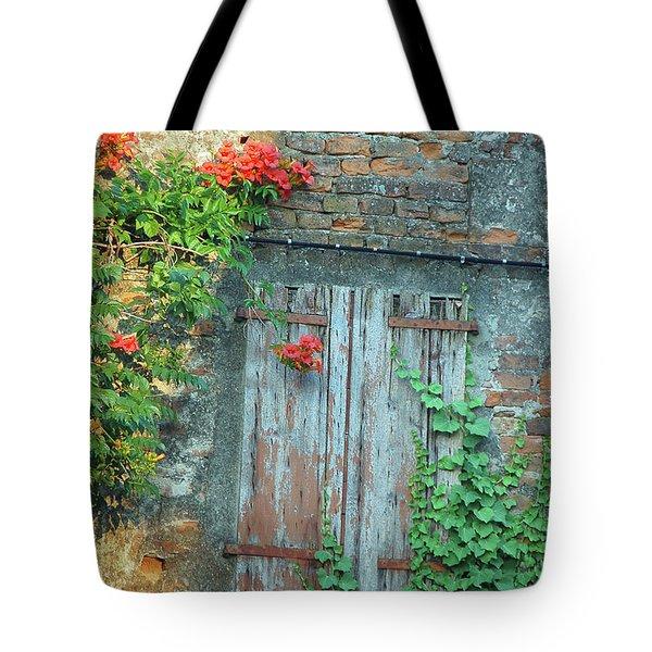 Old Farm Door Tote Bag