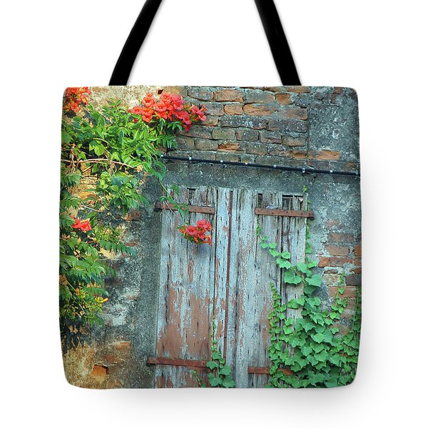 Tote Bag featuring the photograph Old Farm Door by Frank Stallone