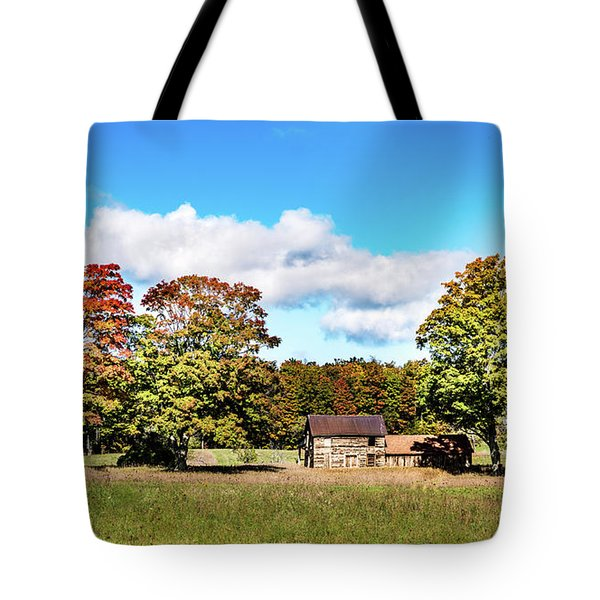 Tote Bag featuring the photograph Old Farm House by Onyonet  Photo Studios
