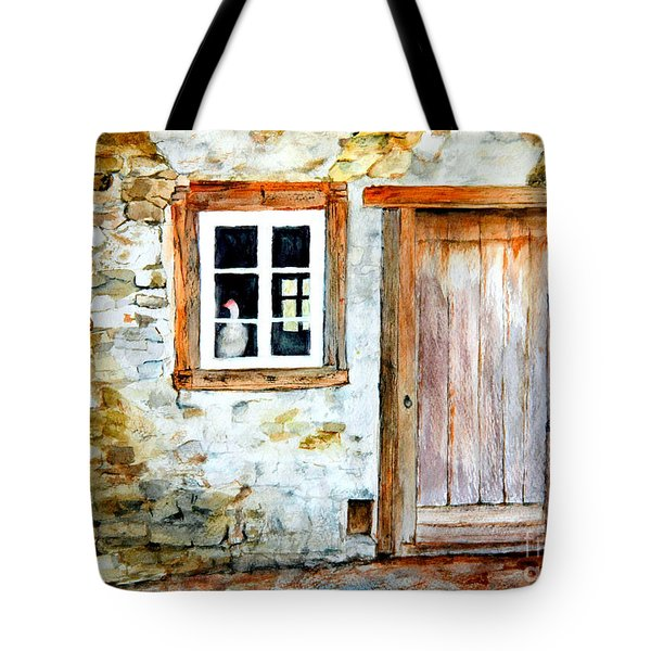 Tote Bag featuring the painting Old Farm House by Sher Nasser