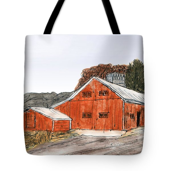 Old Farm In The Country Tote Bag by R Kyllo