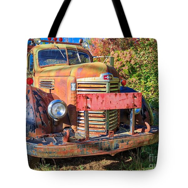 Old Farm Truck Hdr Tote Bag