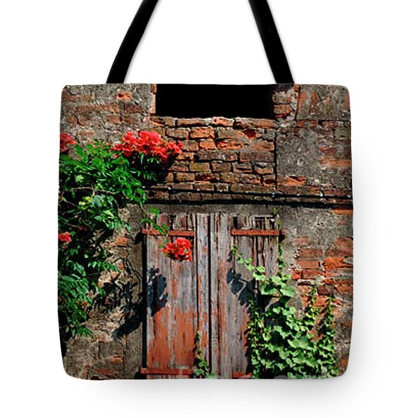 Tote Bag featuring the photograph Old Farm Window by Frank Stallone