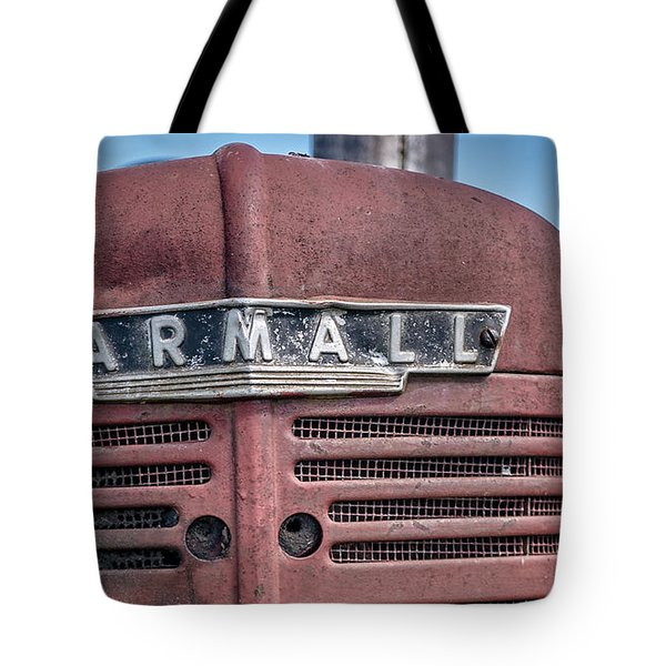 Old Farmall Tractor Grill And Nameplate Tote Bag