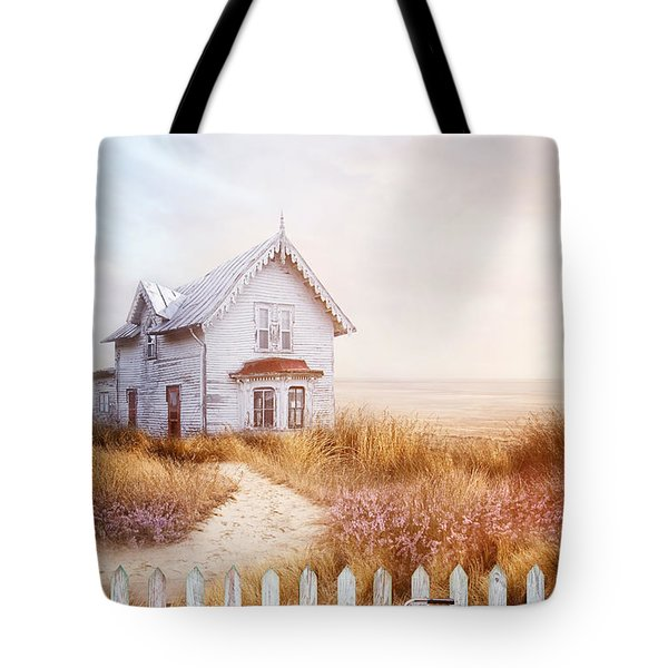 Old Farmhouse Near The Ocean Tote Bag by Sandra Cunningham