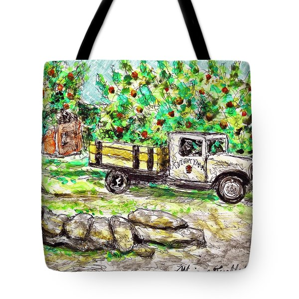 Old Farming Truck Tote Bag