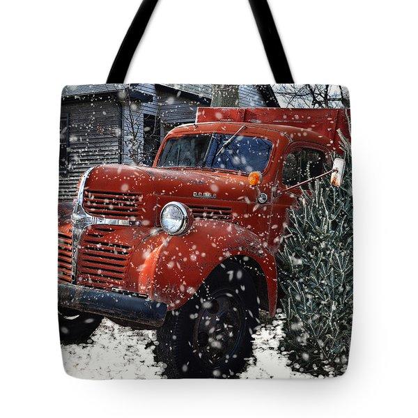 Old Fashion Country Christmas  Tote Bag