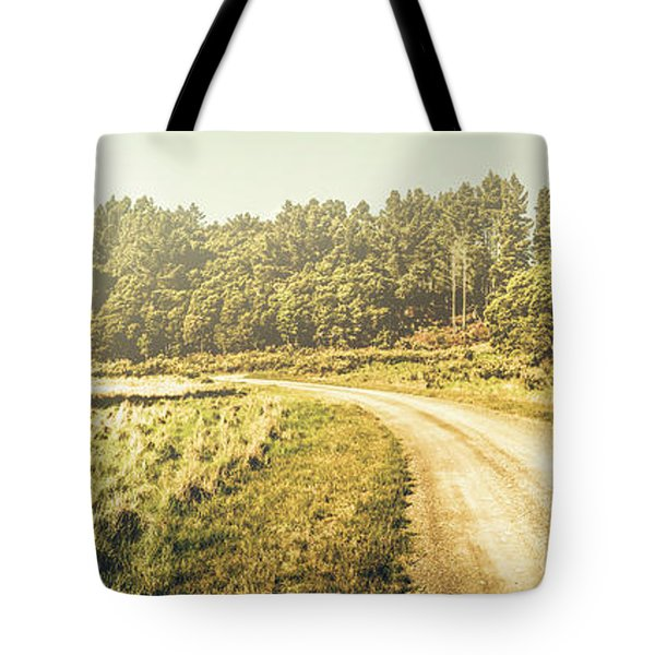 Old-fashioned Country Lane Tote Bag