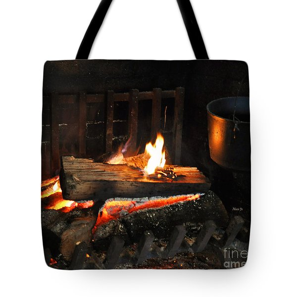 Old Fashioned Fireplace Tote Bag