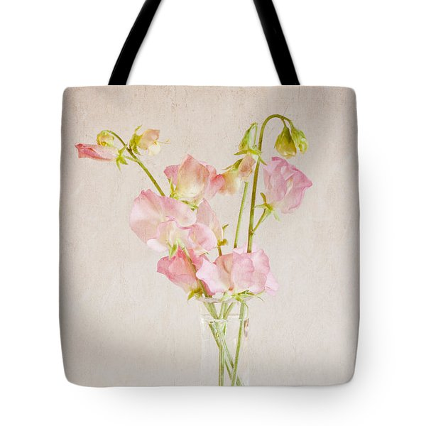 Old Fashioned Sweet Peas Tote Bag